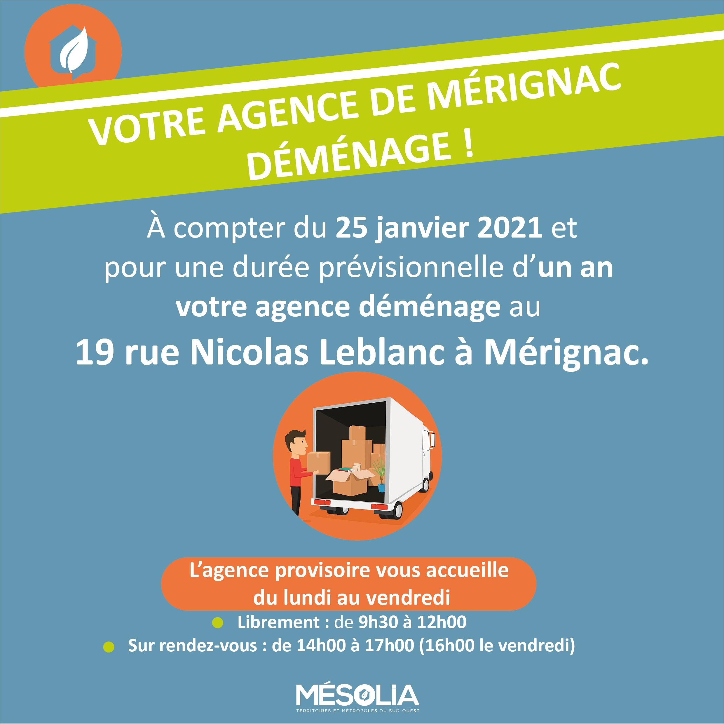 Affiche déménagement Mérignac